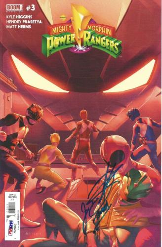 Jason David Frank Power Rangers Green Signed BOOM Comic #3 PSA/DNA COA