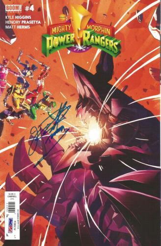 Jason David Frank Power Rangers Green Signed BOOM Comic #4 PSA/DNA COA