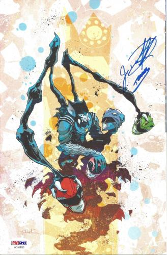 Jason David Frank Power Rangers Green Signed BOOM Comic #6 Variant PSA/DNA COA