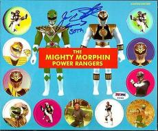 Jason David Frank POWER RANGERS Green White Ranger Signed POGS SET PSA/DNA COA