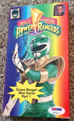 Jason David Frank POWER RANGERS Signed Green Ranger Part 1 VHS Tape PSA/DNA COA
