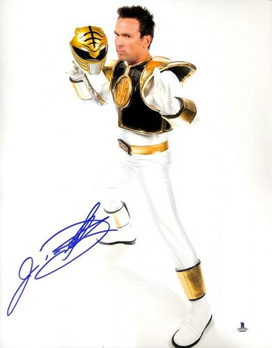 Jason David Frank Signed 11x14 Photo BAS Beckett COA Mighty Morphin Power Ranger