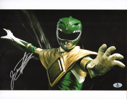 Jason David Frank Signed 11x14 Photo BAS COA Mighty Morphin Power Rangers Green
