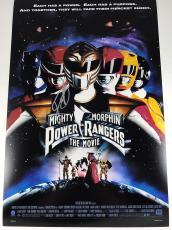 """JASON DAVID FRANK signed 12x18 """" Movie Poster Mighty Morphin Power Rangers COA"""