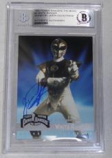 Jason David Frank Signed 1995 Fleer Mighty Morphin Power Rangers Card #2 BAS COA
