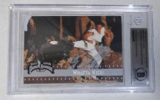 Jason David Frank Signed 1995 Fleer Mighty Morphin Power Rangers Card 65 BAS COA