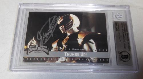 Jason David Frank Signed 1995 Fleer Mighty Morphin Power Rangers Card BAS COA 3