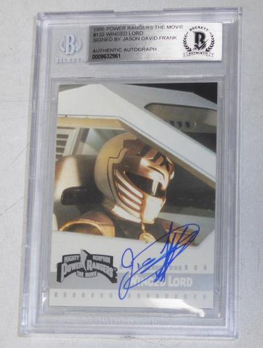 Jason David Frank Signed 1995 Fleer Mighty Morphin Power Rangers Card BAS COA 4