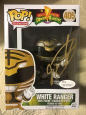 Jason David Frank Signed Autographed White Ranger Funko Pop JSA COA 1