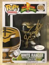 Jason David Frank Signed Autographed White Ranger Funko Pop JSA COA 2