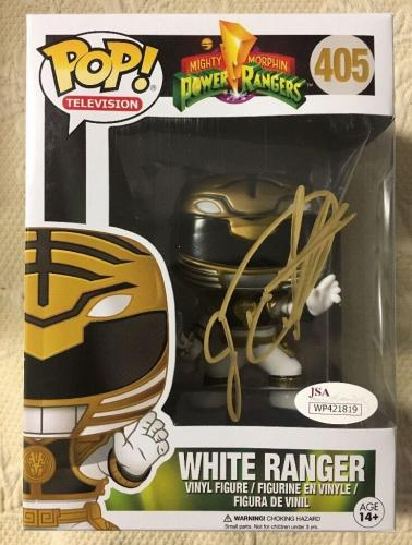 Jason David Frank Signed Autographed White Ranger Funko Pop JSA COA
