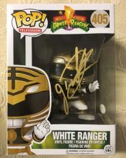 Jason David Frank Signed Autographed White Ranger Funko Pop JSA COA 4