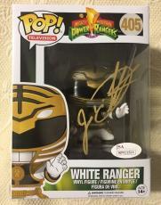 Jason David Frank Signed Autographed White Ranger Funko Pop JSA COA 6