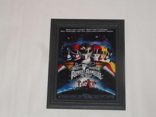 "Jason David Frank Signed Framed ""mighty Morphin Power Rangers The Movie"" Poster"
