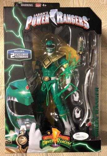Jason David Frank Signed  Green Ranger Power Rangers Legacy Figure JSA COA 4
