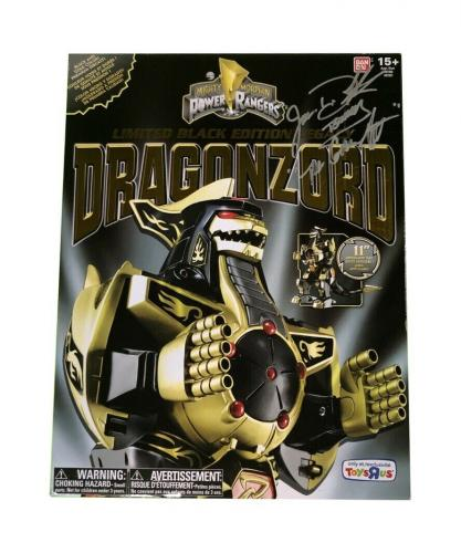 Jason David Frank Signed & Inscribed Power Rangers Black Dragonzord Toys R Us Ex