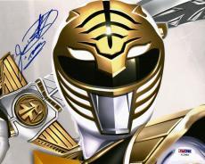 Jason David Frank White Power Rangers Tommy Signed 8x10 Photo PSA/DNA COA (A)