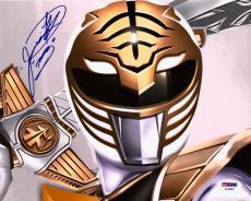 Jason David Frank White Power Rangers Tommy Signed 8x10 Photo PSA/DNA COA (B)