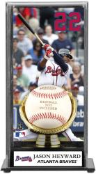 Jason Heyward Atlanta Braves Baseball Display Case with Gold Glove & Plate - Mounted Memories