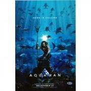 "Jason Momoa Aquaman Autographed 12"" x 18"" Photograph - BAS"