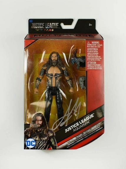 Jason Momoa Aquaman Autographed Signed Action Figure Authentic PSA/DNA COA AFTAL