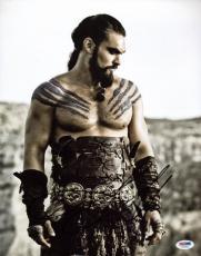 Jason Momoa Game Of Thrones Signed 11X14 Photo PSA/DNA #V47861