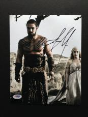 Jason Momoa Signed 8x10 Photo Autograph Psa Dna Coa Game Of Thrones Khal Drago