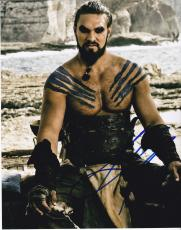 Jason Momoa signed Game of Thrones 8x10 photo W/Coa Khal Drogo #1