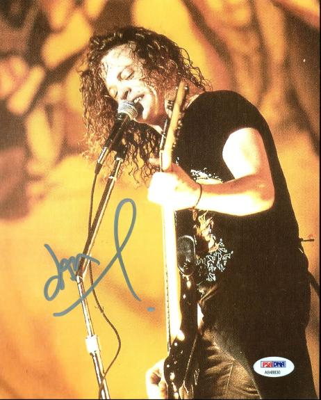 Jason Newsted Metallica Signed 8X10 Photo Autographed PSA/DNA #AB48830