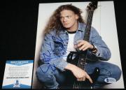 Jason Newsted signed 8 x 10, Metallica, Ride the Lightning, Beckett BAS