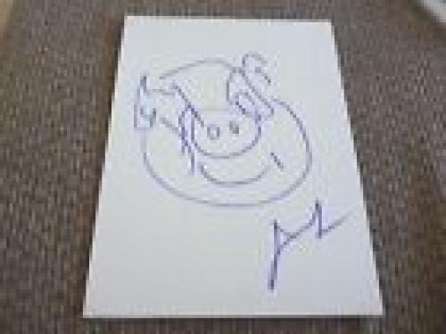 Jason Segel Signed Autographed 9x12 Muppets Pig Sketch PSA Guaranteed
