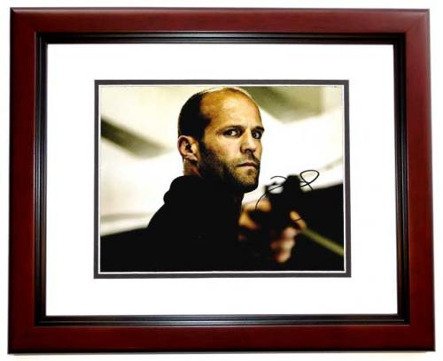 Jason Statham Signed - Autographed Furious 7 Fast and the Furious Action Actor 11x14 inch Photo MAHOGANY CUSTOM FRAME - Guaranteed to pass PSA or JSA