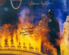 Jason Wingreen and James Earl Jones autographed 8x10 photo (Empire Strikes Back Boba Fett Voice Darth Vader Voice) Image #SC1981 inscribed As You Wish