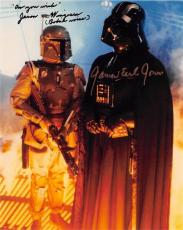 Jason Wingreen and James Earl Jones autographed 8x10 photo (Empire Strikes Back Boba Fett Voice Darth Vader Voice) Image #SC3 inscribed As You Wish