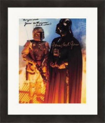 Jason Wingreen & James Earl Jones autographed 8x10 photo (Empire Strikes Back Boba Fett Voice Darth Vader Voice) #SC3 As You Wish Matted & Framed