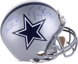 Jason Witten and Tony Romo Dallas Cowboys Autographed Pro-Line Riddell Authentic Helmet