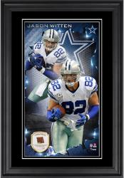 Jason Witten Dallas Cowboys 10'' x 18'' Vertical Framed Photograph with Piece of Game-Used Football - Limited Edition of 250