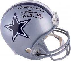 Jason Witten Dallas Cowboys Autographed Riddell Replica Helmet with America's Team Inscription