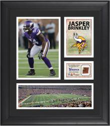 Jasper Brinkley Minnesota Vikings Framed 15'' x 17'' Collage with Game-Used Football