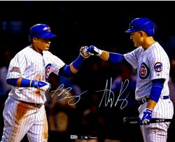 Javier Baez and Anthony Rizzo Chicago Cubs Autographed 16'' x 20'' Photograph