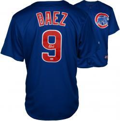 Javier Baez Chicago Cubs Autographed Majestic Replica Blue Jersey