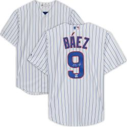 Javier Baez Chicago Cubs Autographed Majestic Replica White Jersey