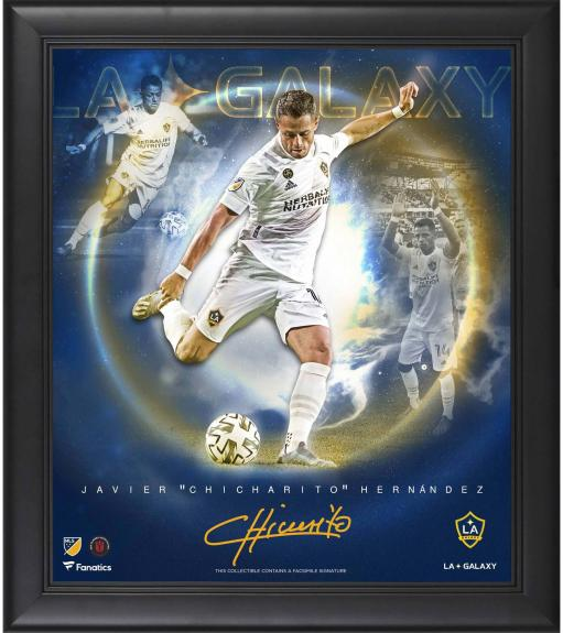 "Javier Chicharito Hernandez La Galazy Framed 15"" x 17"" Stars of the Game Collage - Facsimile Signature"