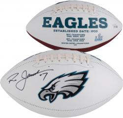 Ron Jaworski Autographed Philadelphia Eagles Logo Ball