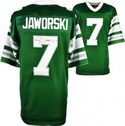 Ron Jaworski Philadelphia Eagles Autographed Green Vintage Jersey - Mounted Memories