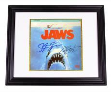 Jaws Autographed Steven Spielberg Richard Dreyfuss LD Poster