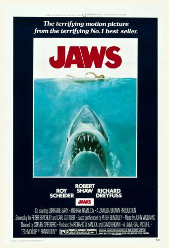 Jaws Original One Sheet Movie Poster - 1975