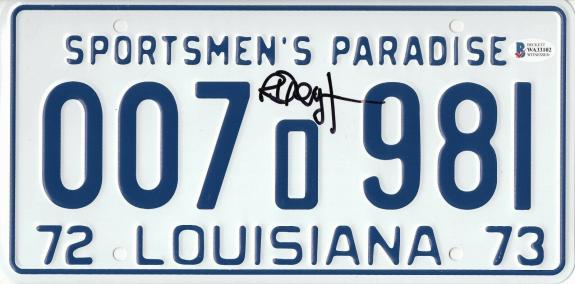 Jaws Richard Dreyfuss Signed Autographed License Plate Beckett Witness Bas Coa