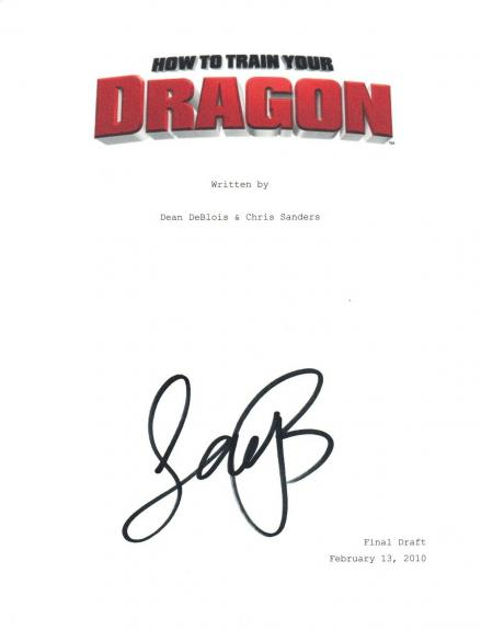 Jay Baruchel Signed Autographed HOW TO TRAIN YOUR DRAGON Movie Script COA