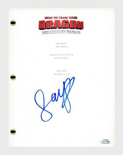 Jay Baruchel Signed How To Train Your Dragon The Hidden World Movie Script ACOA